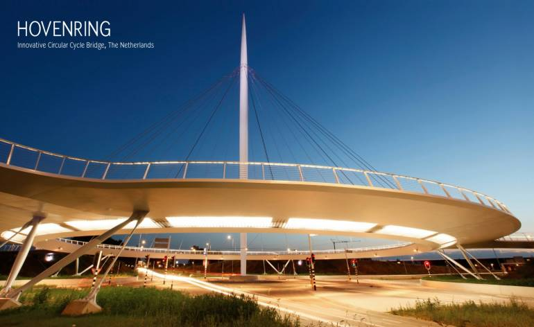 De Hovenring, inspirerende architectuur in het teken van fietsers!