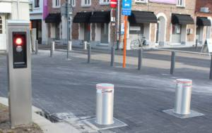 Veilige binnenstad met verzinkbare palen