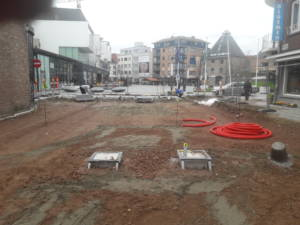 Verzinkbare palen in Hasselt door Lowist toegangsbeheer